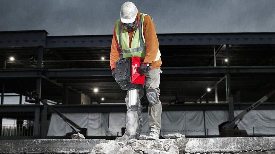 ARTICLE ZONE OUTILLAGE - Démolisseur sans fil MXF DH2528H Milwaukee : démolition facile et rapide en
