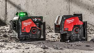INNOVATION : MILWAUKEE® présente 4 nouveaux lasers verts et leurs accessoires