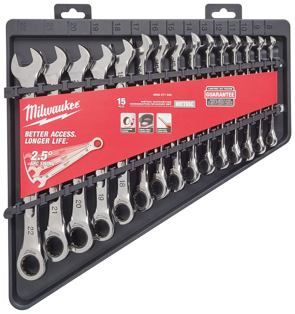 15pc Ratcheting Combination Spanner Set
