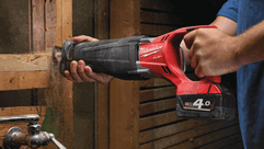 Milwaukee® Cordless M18 FUEL™ SAWZALL® Recip Saw Delivers Corded Performance