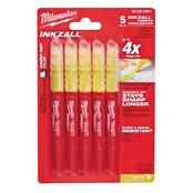 INKZALL Highlighters Yellow - 5pc