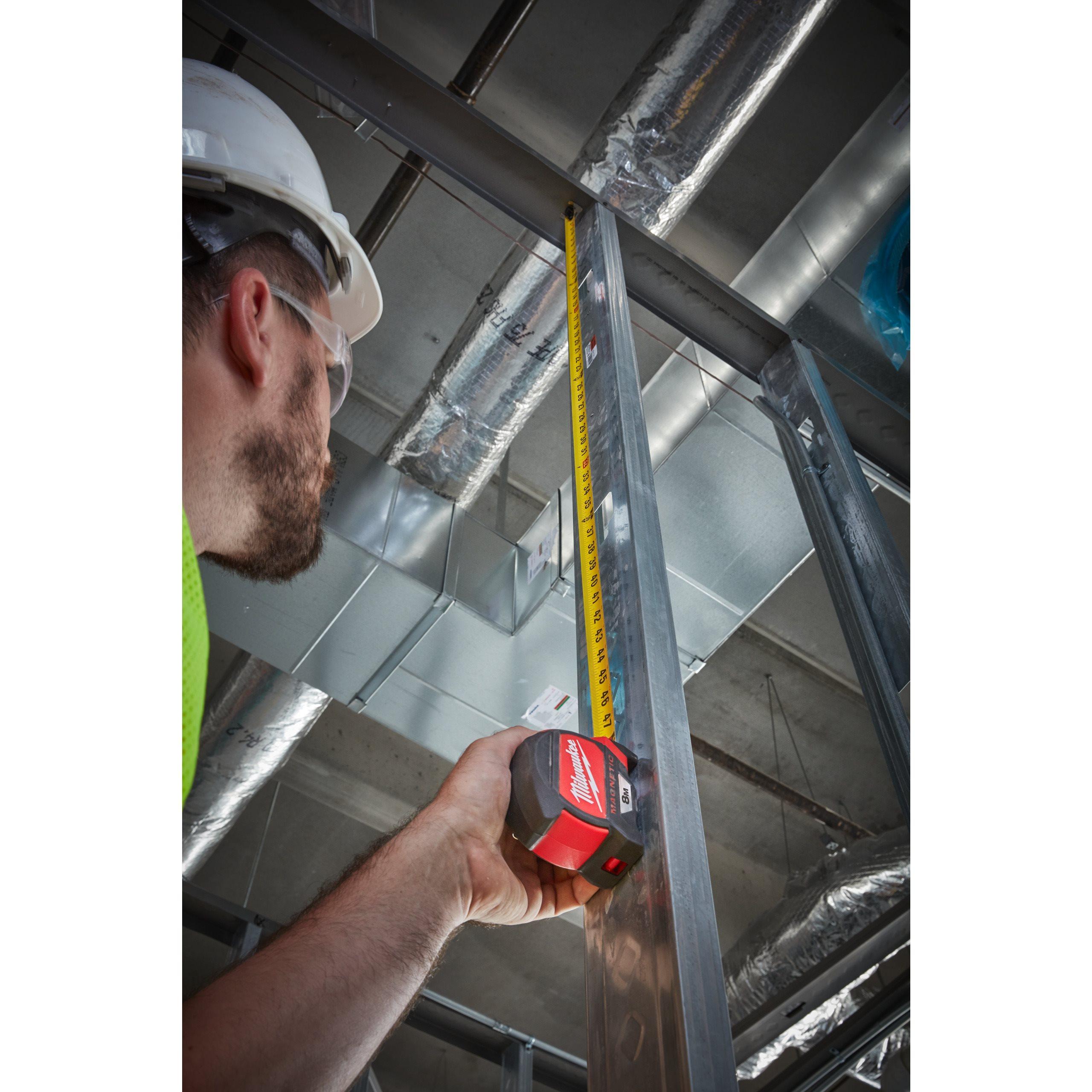 Milwaukee Premium-Mètre 5 M Magnétique Ruban à mesurer Compact mètre mesurer