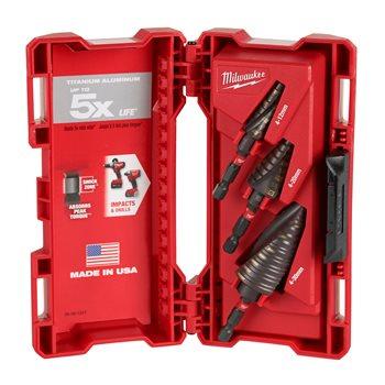 Step drill sets