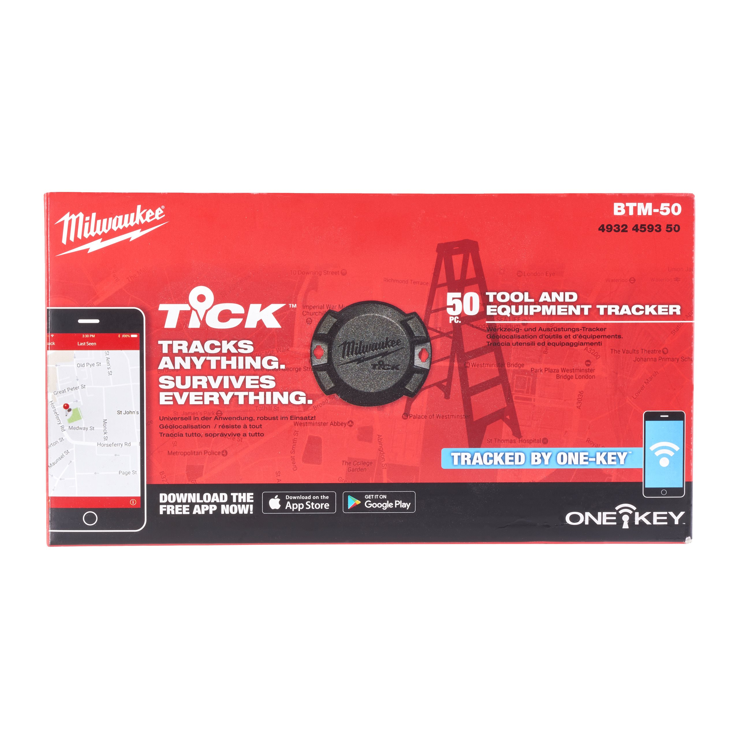 One Key 1 Tracker Brand New Milwaukee BTM-1 TICK Tool and Equipment Tracker