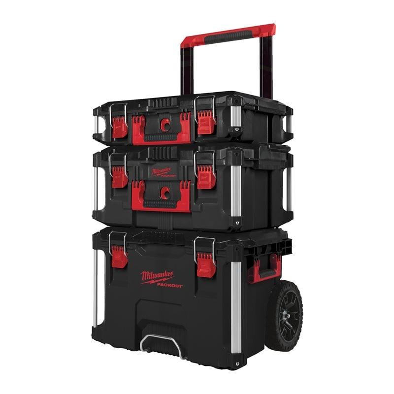 MILWAUKEE PACKOUT 1,2,3 (3kom) kofer za alat na kotačima