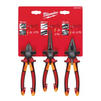 VDE 3 Piece Plier Set