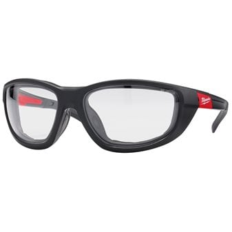 Premium safety glasses with gasket