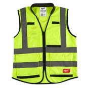 Premium High-Visibility Vest Yellow - 2XL/3XL