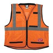 Premium High-Visibility Vest Orange - S/M