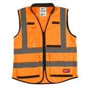 Premium High-Visibility Vest Orange - 2XL/3XL