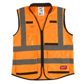 Premium High-Visibility Vest Orange - 2XL/3XL