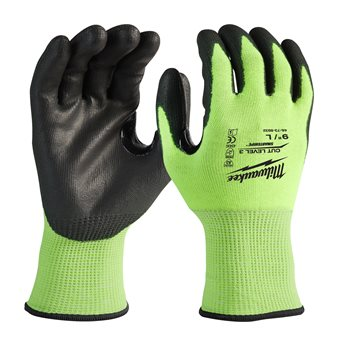 Hi-Vis Cut Level 3 Gloves