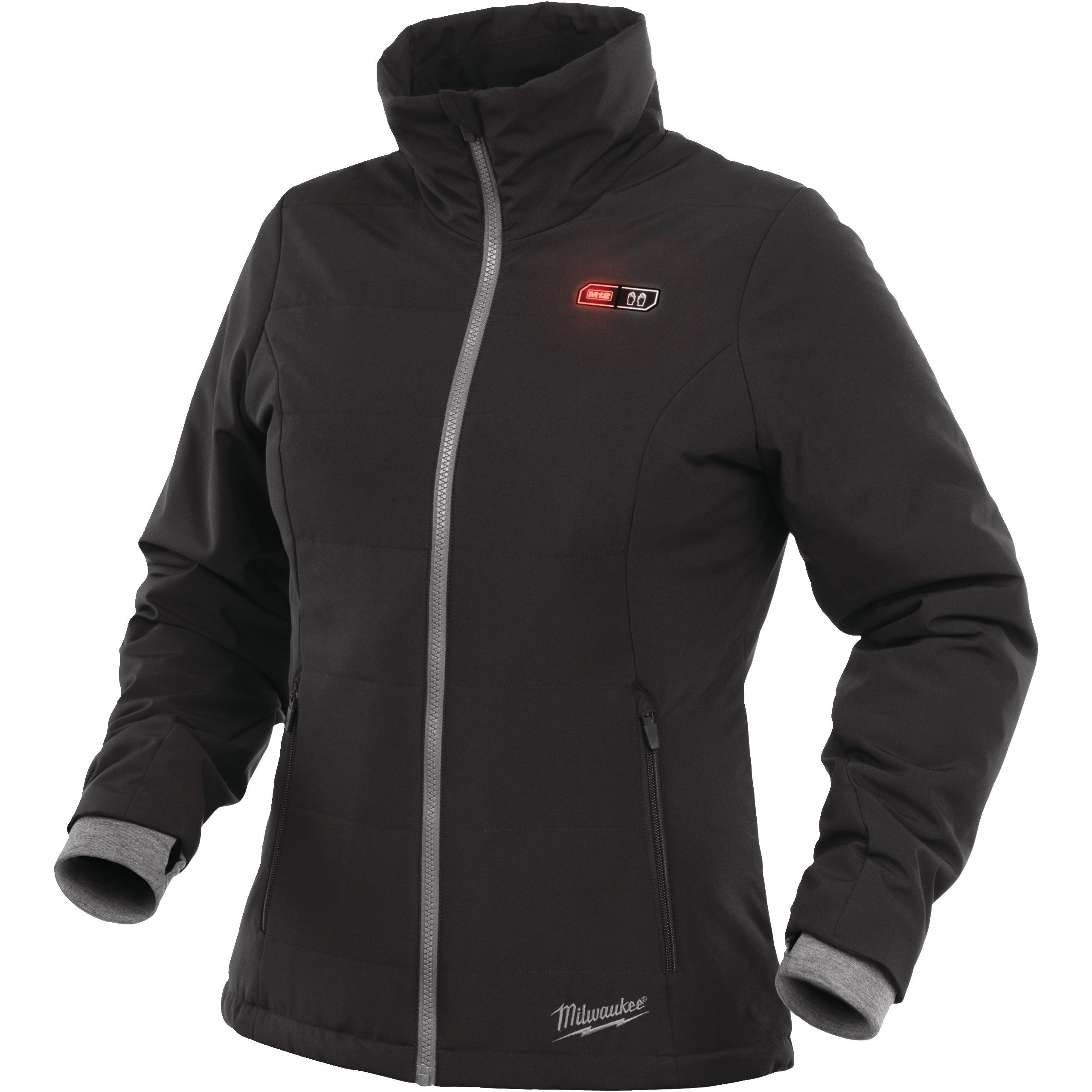 Without Battery S Milwaukee Womens Thermal Down Jacket in Black Size