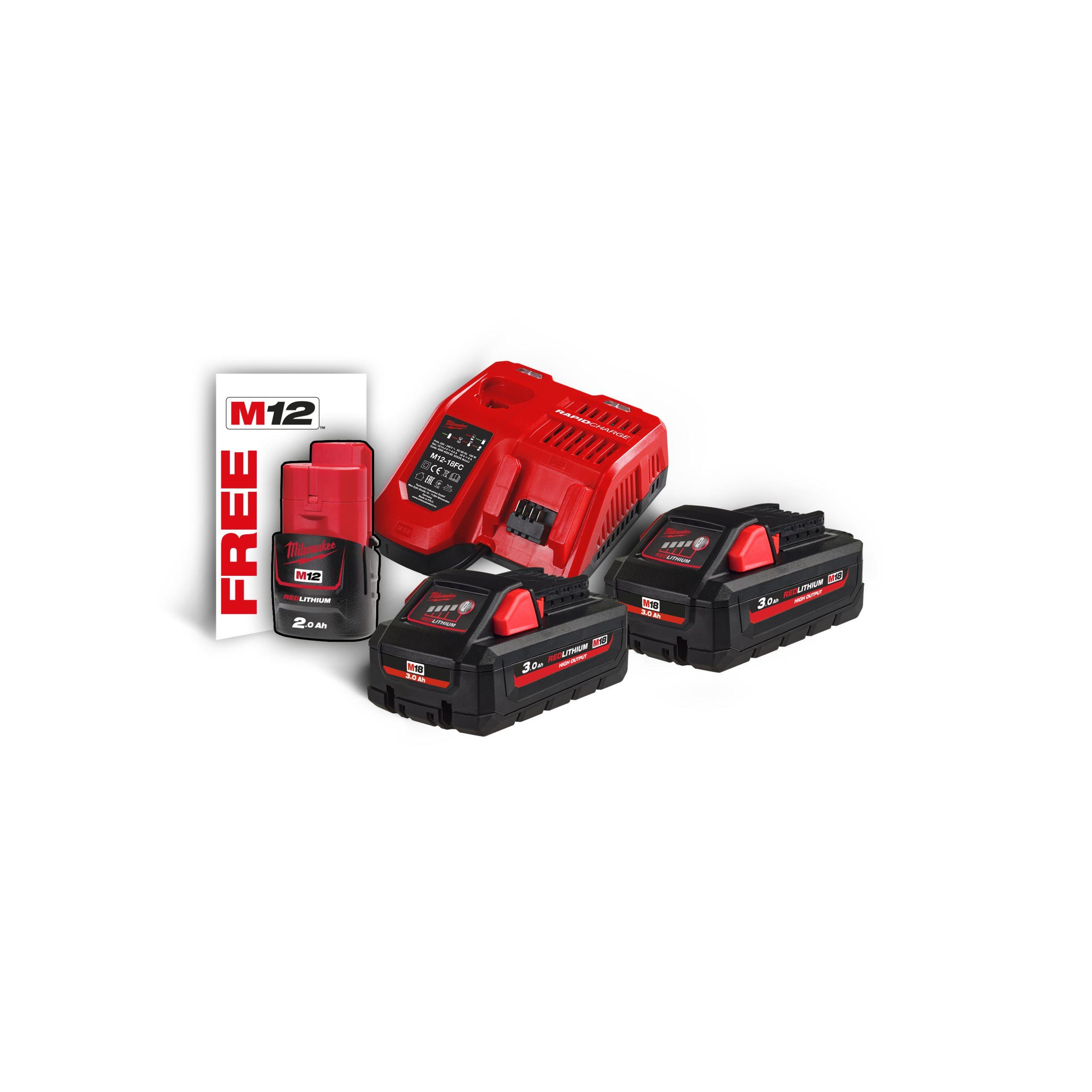 Batteri och laddare kit | Milwaukee Tools Sverige
